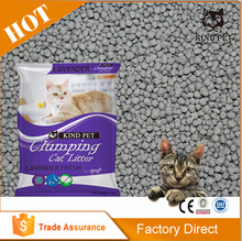 Sample free round fine cat litter with different colours packaging