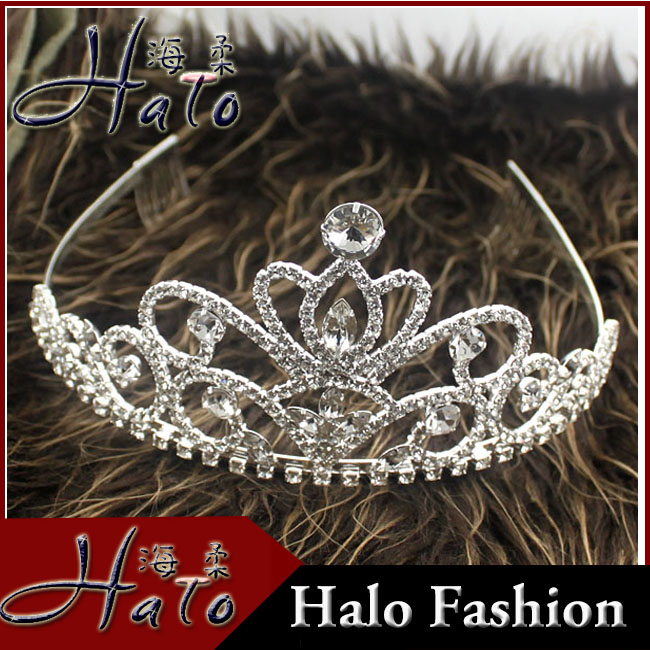 2017 Fashion Silver Wedding Hair Jewelry Bridal Flower Tiaras For Girl Halo H172-076