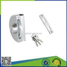 hot sale anti-rust iron sliding glass door lock