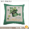 St.patrick's day household supplies sofa decorative linen cushion with custom printed logo