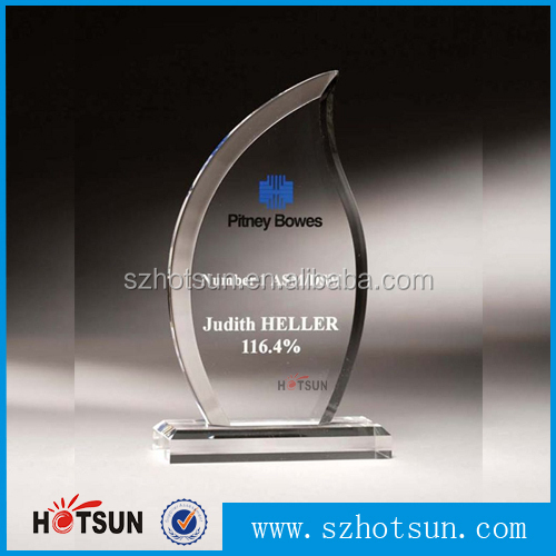 High-end diamond-shaped acrylic award blanks with silkscreen custom logo