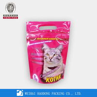 Stand Up Hanging Plastic Bag With Zipper For Pet Food