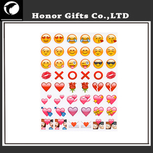 Promotional Funny Eco-friendly Emoji Mobile Phone Sticker