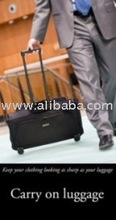 Rolling/Wheeled Tri-Fold carry-on Garment luggage with zip-away laptop bag