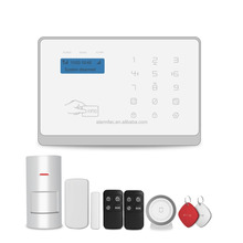 2017 cheap 868mhz GSM WIFI Smart Home Security Alarms System with smoke gas detector
