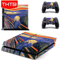 Cool Abstract Painting Skin Decal Wrap For PS4 Sticker Manufacture
