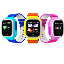 2017 Hot sell wholesale cheap gifts q90 telephone SOS gps tracker kids smart watch for ios and android