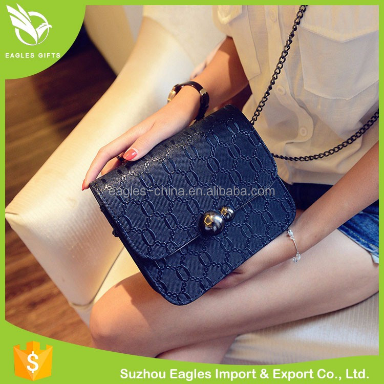 China Cheap Wholesale Pvc Pu Leather Ladies' Handbag At Low Price