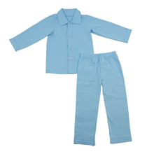 Wholesale hot sales 100% cotton polo shirt for pajamas solid top pants children sleep clothes with good quality fast delivery