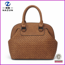 China Supplier New Design Fashion Weave Women PU Leather Bag
