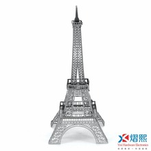 OEM 3D puzzle Eiffel Tower free shipping Metal puzzle
