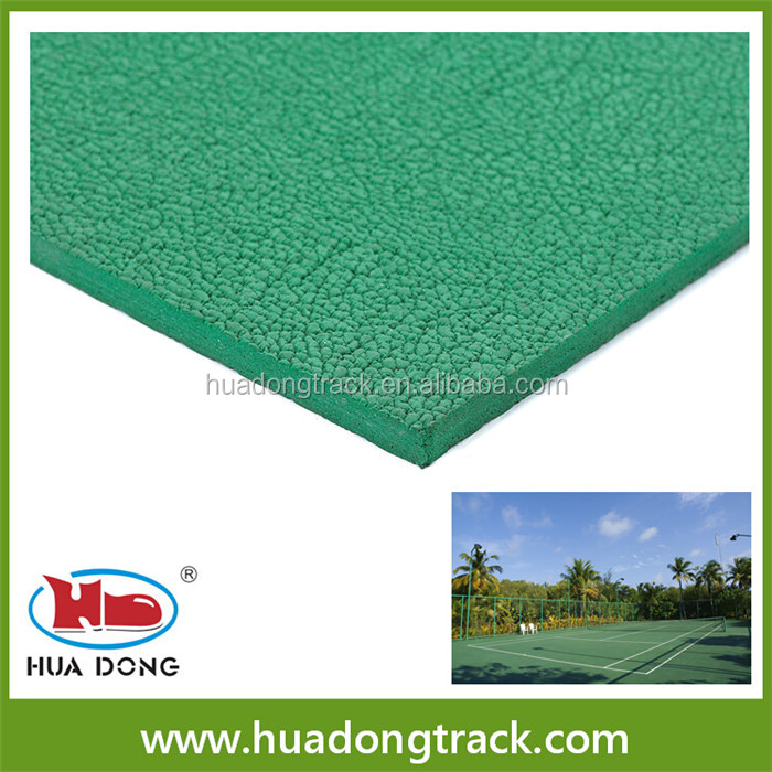 tennis court sports rubber flooring materials, synthetic sports court surface