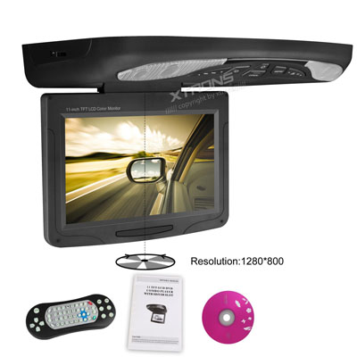 "11.3"" HD Digital 16:9 TFT Monitor Multi region car roof dvd"