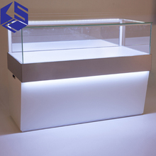High quality mobile counter design glass shop display cell phone stand for sale