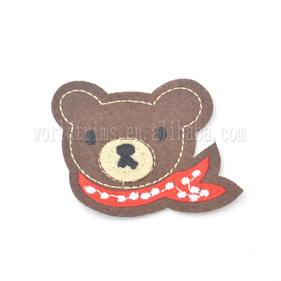 New style DIY custom bear embroidery blank patches for clothing accessories