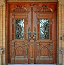 Fancy Elegant Entry Wood Door Design