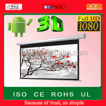 top sales the latest style 1:1 motorized projector screen 200 inch