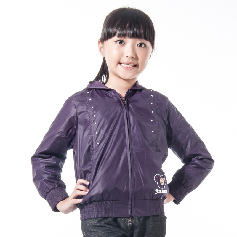 Children's clothing female child autumn 2013 female child outerwear medium-large child zipper-up trench outerwear