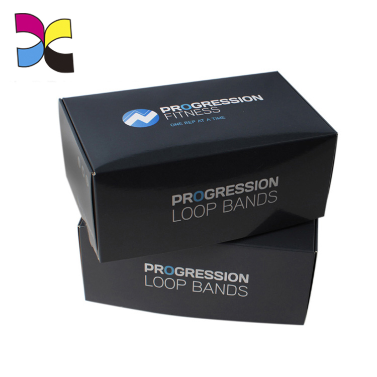 Custom wholesale recyclable paper small product black packaging boxes