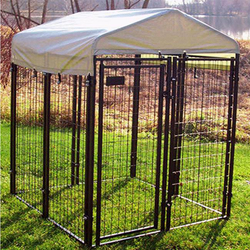 China Metal Commercial Dog Cage Metal Welded Wire Dog Cage