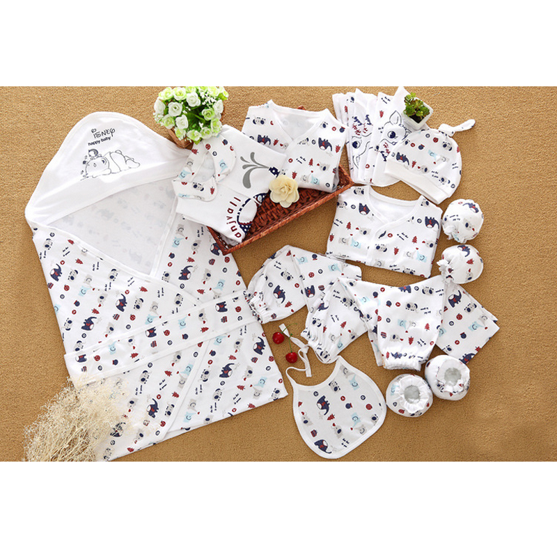 C12049 Infant clothing china 100% cotton turndown collar baby gift sets wholesale
