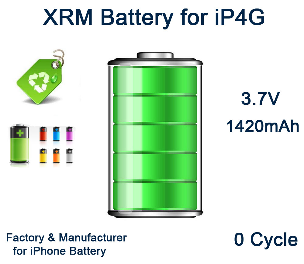 for iPhone Battery for iPhone4G internal battery and high quality AAA with 0 cycle mobile phone battery factory