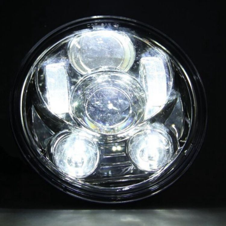 Hot 5.75 5 3/4 inch motorcyle LED daymaker Headlight 45W Chrome Projector headlamp for Harley
