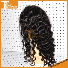 Grade 6A virgin loose wave bleached knots lace front india hair wig price full and thick hair density