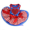 4th July Patriotic Blue Star Red Heart Small Dog Pet Tutu Clothes Party dress XS-L