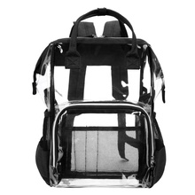 Lokass Large Clear <strong>Backpack</strong> PVC Transparent <strong>Backpacks</strong> for school Travel Rucksack