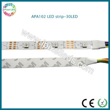 5050RGB chip addressable programmable 5v pixel apa102 30 led strips