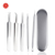 shiny stainless steel dark spot tweezers tin box beauty shop tools pimples and dark spot remover