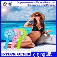 Factory Price Summer Air Cooling Fan Mini Table Stand Fan with 18650 Battery Rechargeable Fan