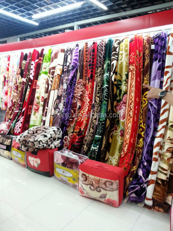 Wholesale 100% polyester Raschel and Mink blanket factory