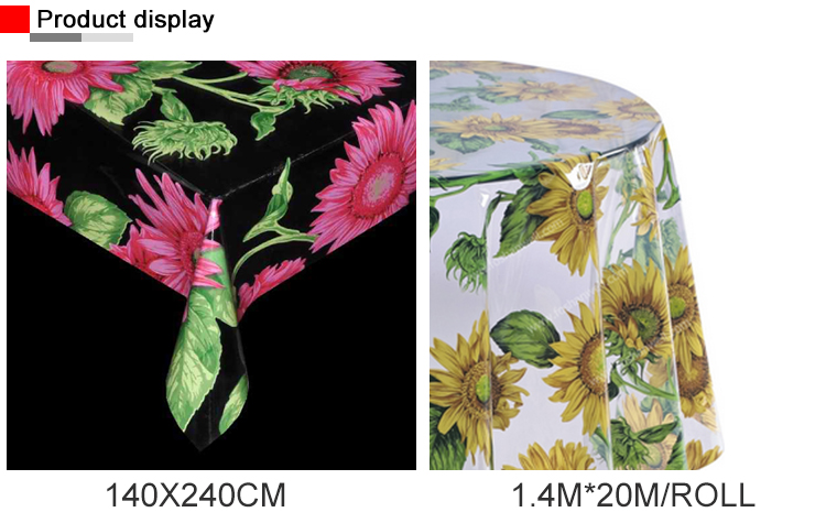 Factory Outlet Customize Printing Table Cloth Round Transparent