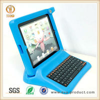 childproof keyboard case for ipad 2 made from shockproof EVA with big grip foam frame and stand
