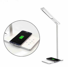 LED Lighting Touch Dimming 5 Levels Wireless Mobile Charging Led Desk Lamp With Usb Output Port