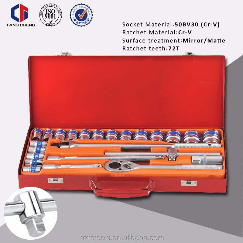 New hot sale socket wrench set high quality CR-V 50BV30 24pcs Repair Used Socket Set Tool Kit