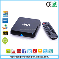 Classical Set Top Box Amlogic S802 M8 OTT Quad Core Samrt Tv Box With 1080p Full HD