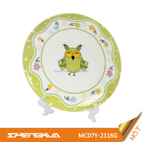 China Supplier New Bone China Dinner Plate with Owly, Owl Design
