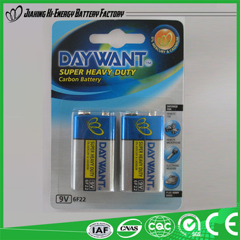 Made In China Hot Selling Dry Cell 9V Battery 6F22