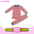 Kids christmas pajama wholesale China factory knit cotton trendy pajama for kids red stripe christmas girls children clothing