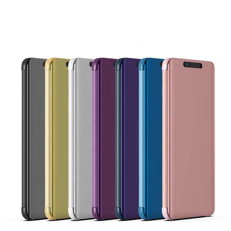 New Arrival Smart View Mirror Leather Flip Stand Case Cover For Huawei Honor 20 Honor 20lite Y9Prime 2019 <strong>P</strong> Smart Z Mate20 Pro