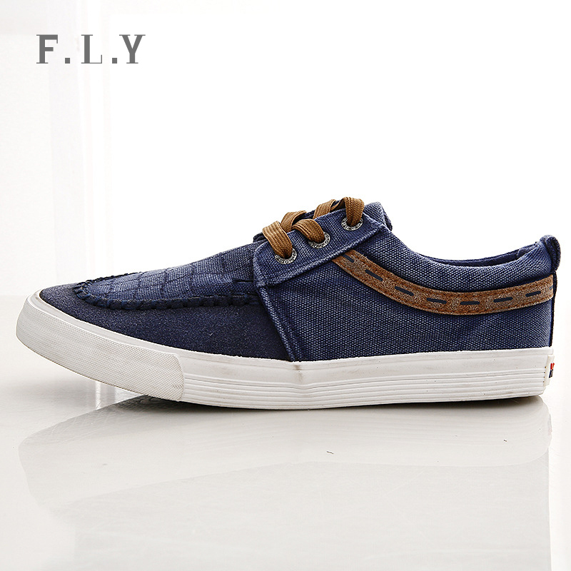 2015 New Men Fashion Sport Shoes Denim Jeans Canvas Shoes Lace-up breathable casual Men loafers Spring sneakers Plus size PX0099