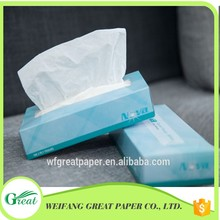 Competitive price blue box drawing facial tissue paper folding machine