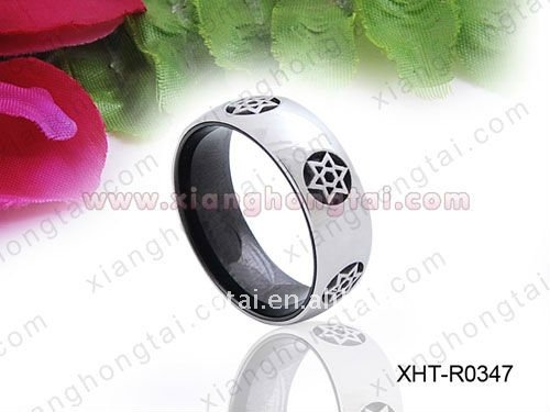 chic wide men stainless steel ring/ scalar energy strong magnet jewelry