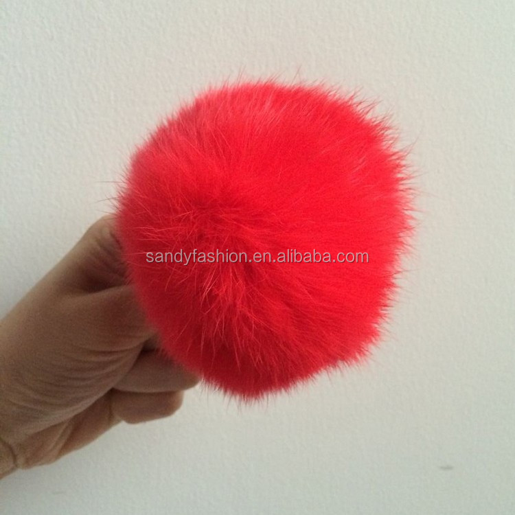 Fashion colorful for garment or handbag rabbit fur pom poms