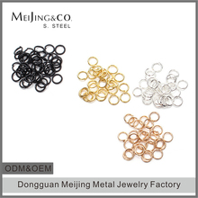 Bulk Wholesale 316L Stainless Steel Open Jewelry Jump Rings