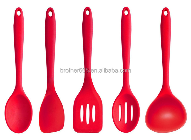 N cleo de nylon cocina de silicona utensilios de cocina for Kitchen utensils in spanish