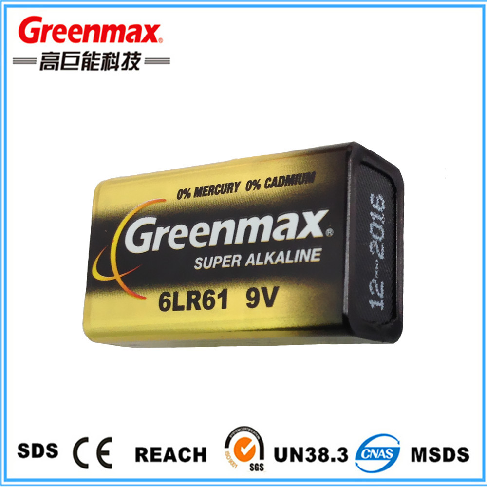Wholesale alibaba1pcs Blister Card Pack 9v Alkaline Battery 6lr61